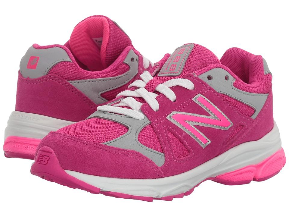 New Balance Kids KJ888v1 (Little Kid) (Pink/Grey) Girls Shoes