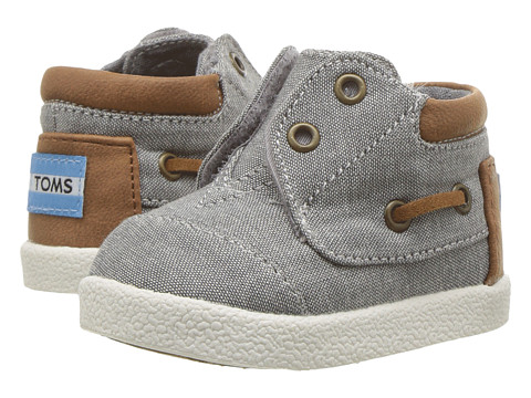 TOMS Kids Bimini High Sneaker (Infant/Toddler/Little Kid) - Frost Grey Chambray/PU