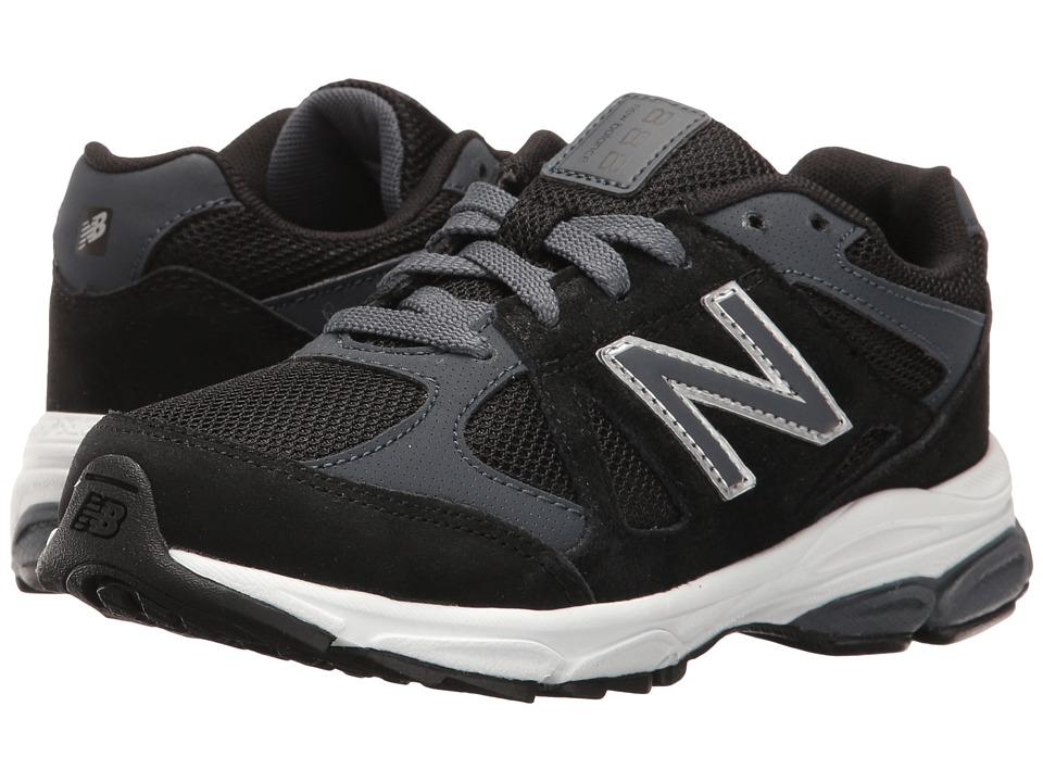 New Balance Kids KJ888v1 (Little Kid) (Black/Grey) Boys Shoes