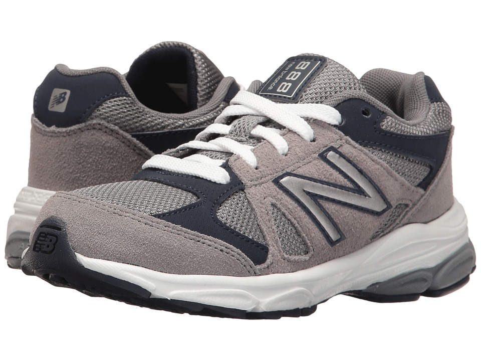 New Balance Kids KJ888v1 (Little Kid) (Grey/Navy) Boys Shoes