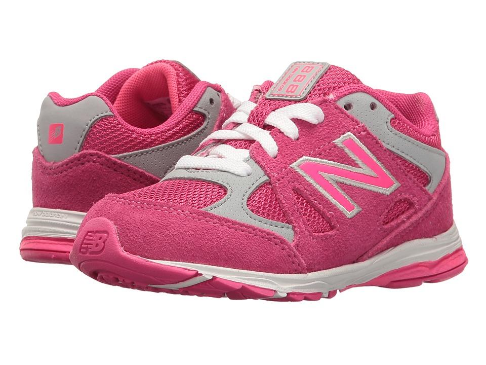 New Balance Kids KJ888v1 (Infant/Toddler) (Pink/Grey) Girls Shoes