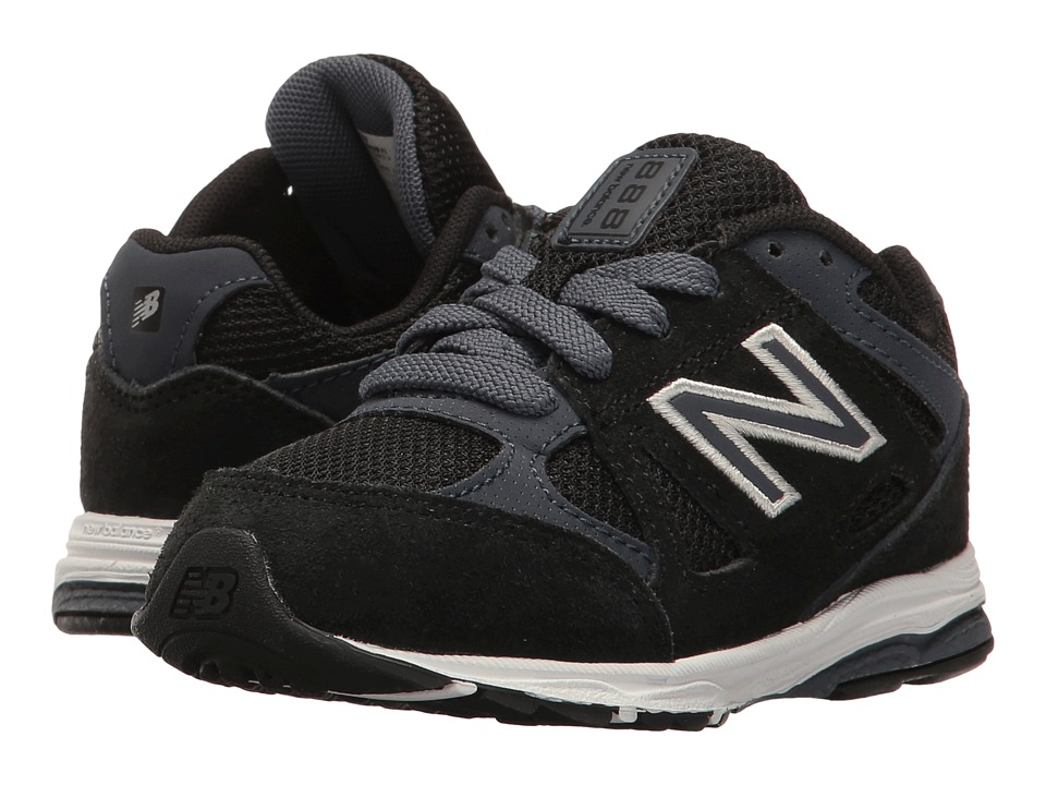 New Balance Kids KJ888v1 (Infant/Toddler) (Black/Grey) Boys Shoes