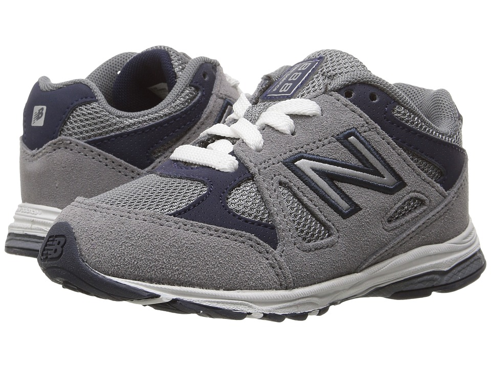 New Balance Kids KJ888v1 (Infant/Toddler) (Grey/Navy) Boys Shoes