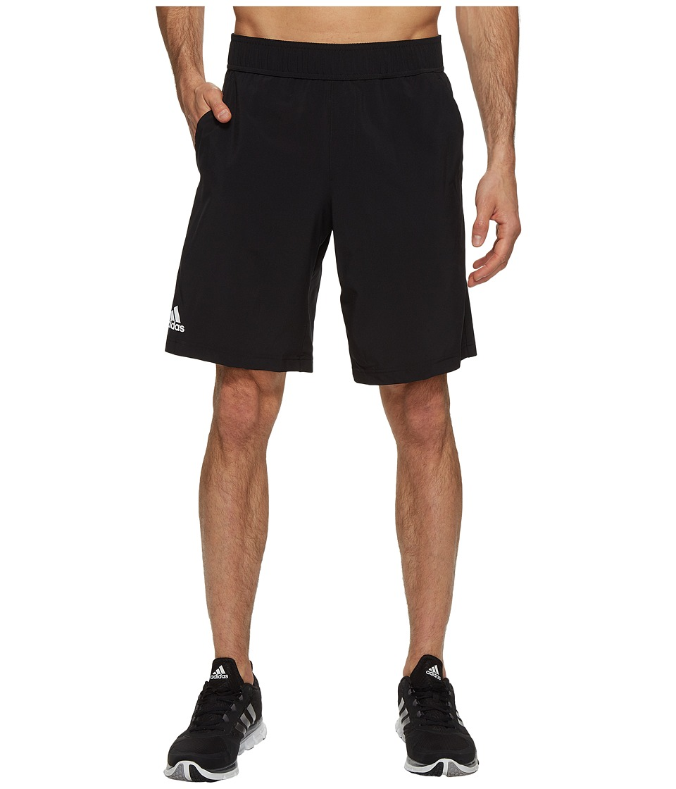 adidas - Essex Shorts (Black/White) Men's Shorts