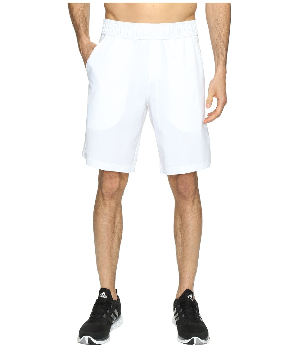 adidas - Essex Shorts (White/Black) Men's Shorts