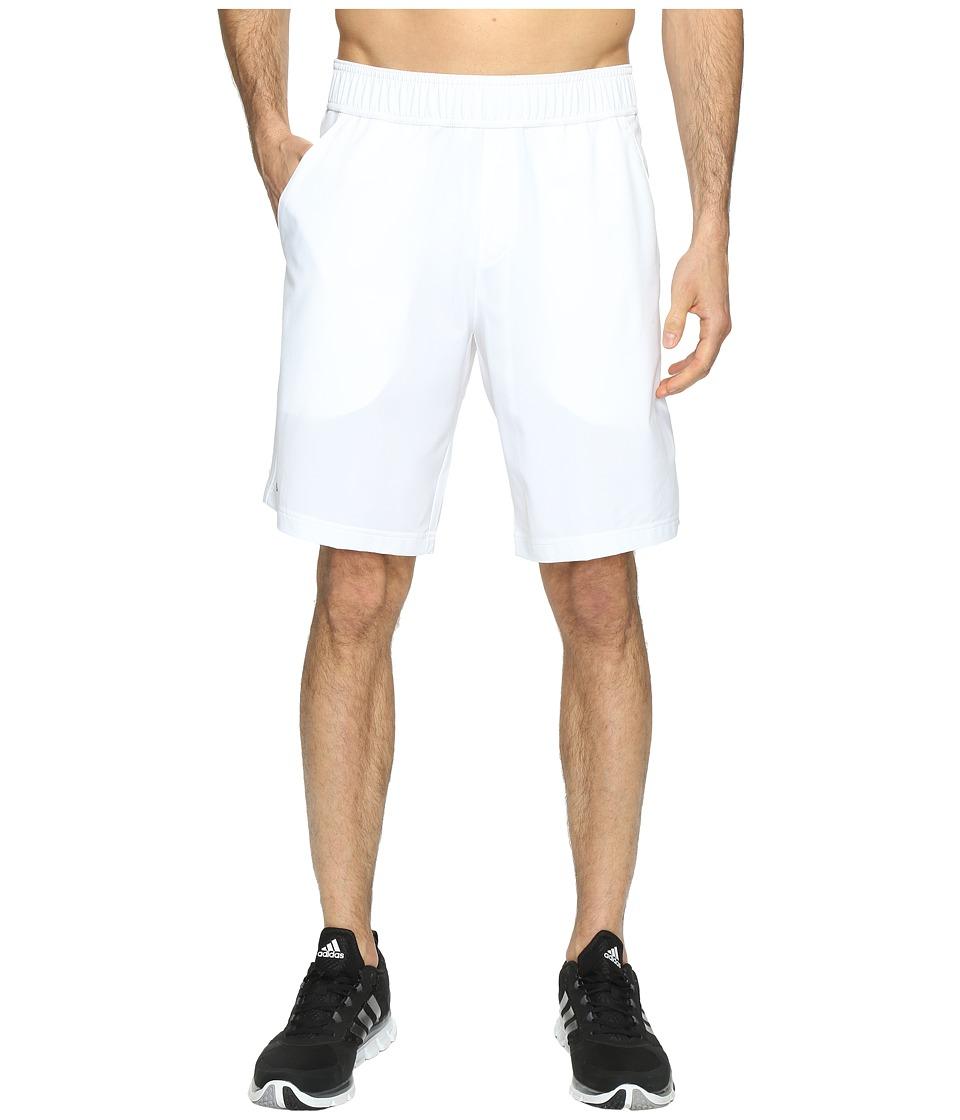 adidas - Essex Shorts (White/Black) Men's Shorts