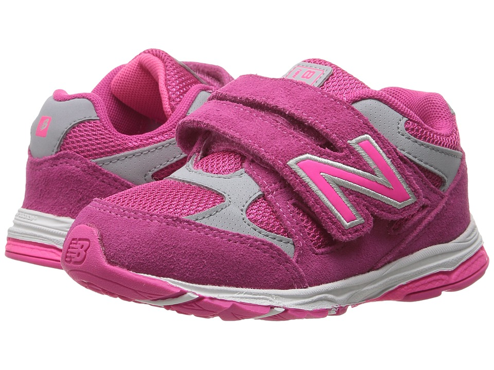 New Balance Kids - KV888v1 (Little Kid) (Pink/Grey) Girls Shoes