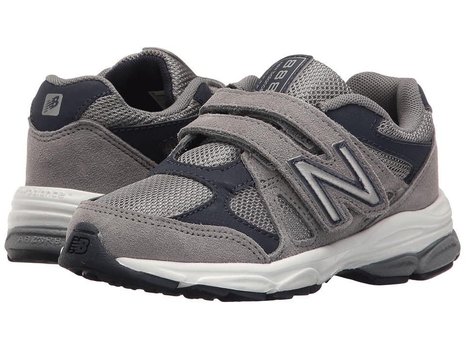 New Balance Kids KV888v1 (Little Kid) (Grey/Navy) Boys Shoes