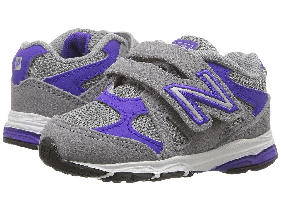 New Balance Kids KV888v1 (Infant/Toddler) (Grey/Purple) Girls Shoes