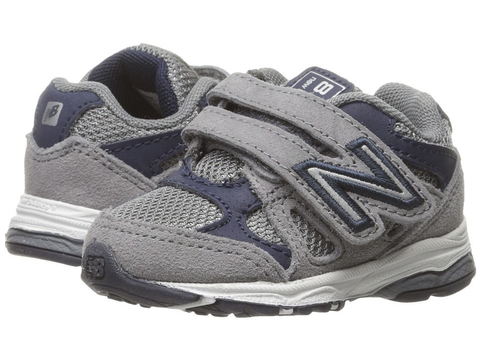 New Balance Kids KV888v1 (Infant/Toddler) (Grey/Navy) Boys Shoes