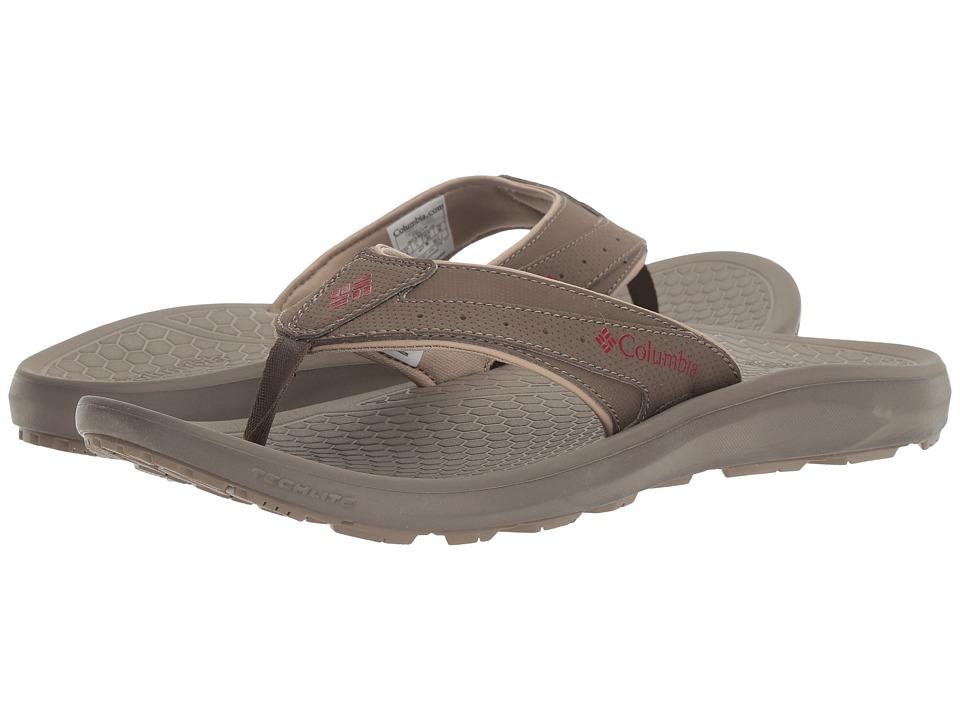 Columbia Techsun Flip (Mud/Red Element) Men's Sandals