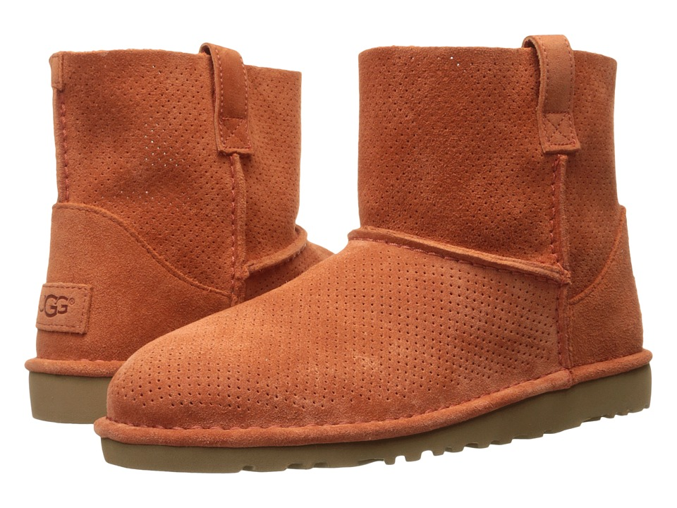 UGG Classic Unlined Mini Perf (Fire Opal) Women