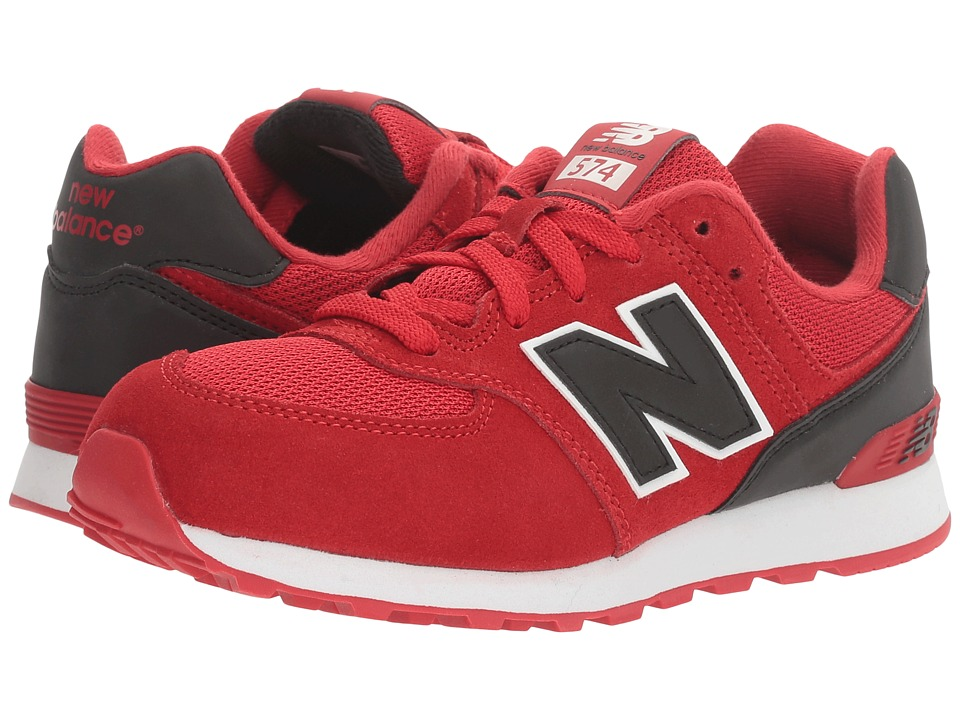 New Balance Kids KL574v1 (Big Kid) (Red/Black) Boys Shoes