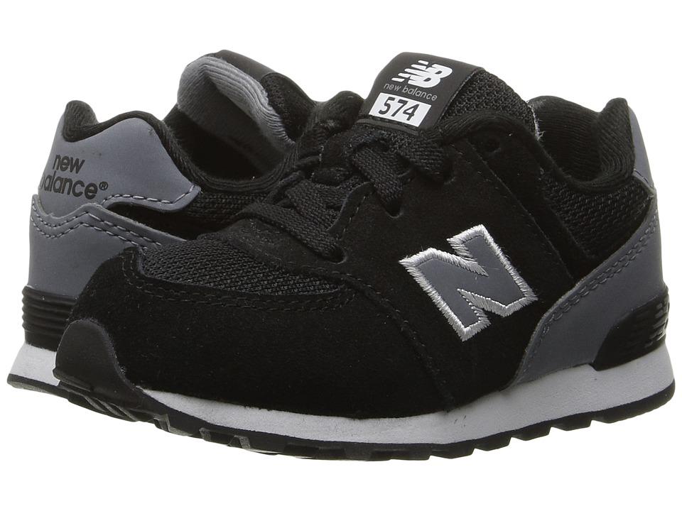 New Balance Kids KL574v1 (Big Kid) (Black/Grey) Boys Shoes