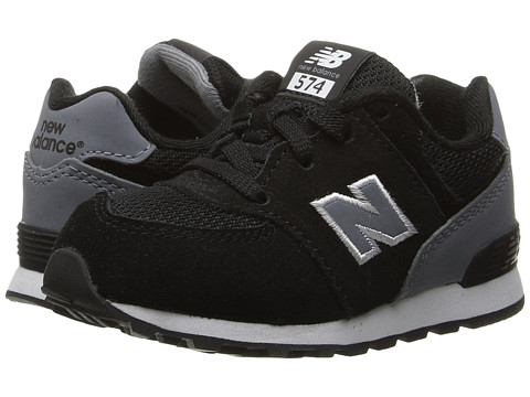 New Balance Kids KL574v1 (Big Kid) - Black/Grey