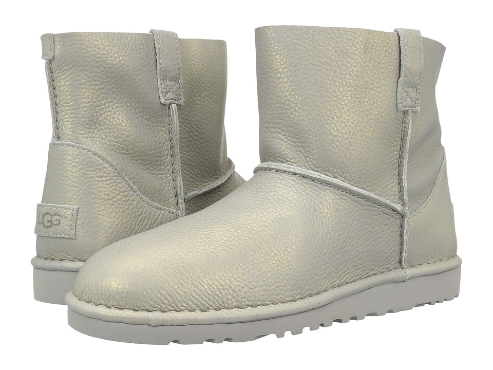 UGG Classic Unlined Mini Metallic (Silver) Women