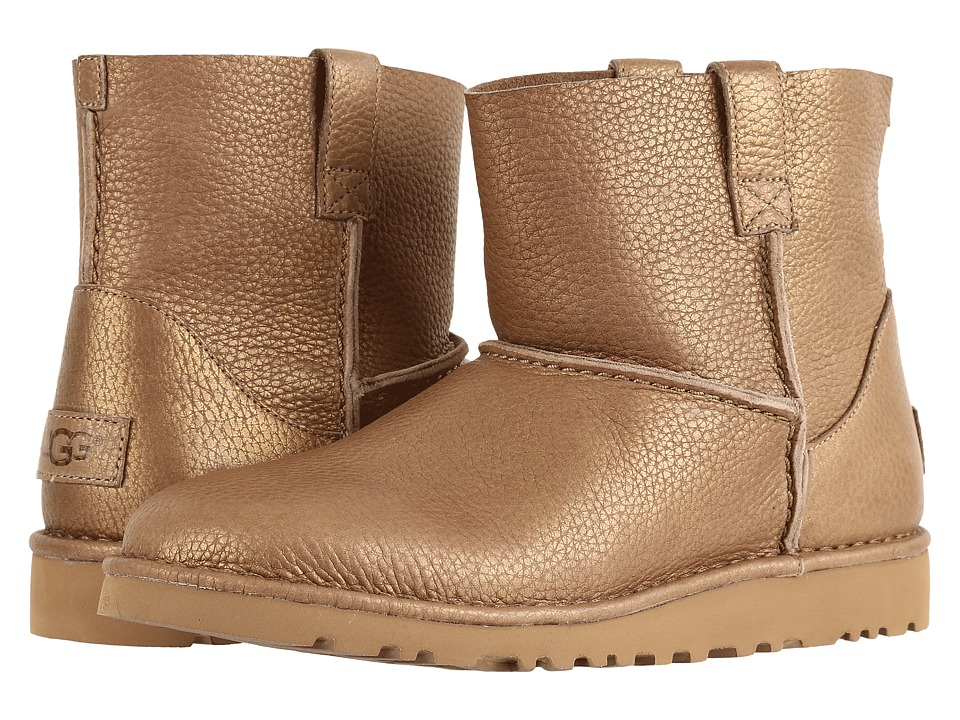 UGG Classic Unlined Mini Metallic (Gold) Women