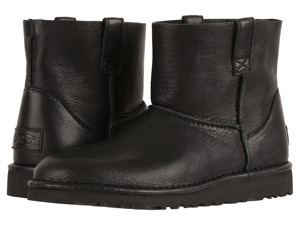 UGG Classic Unlined Mini Leather (Black) Women