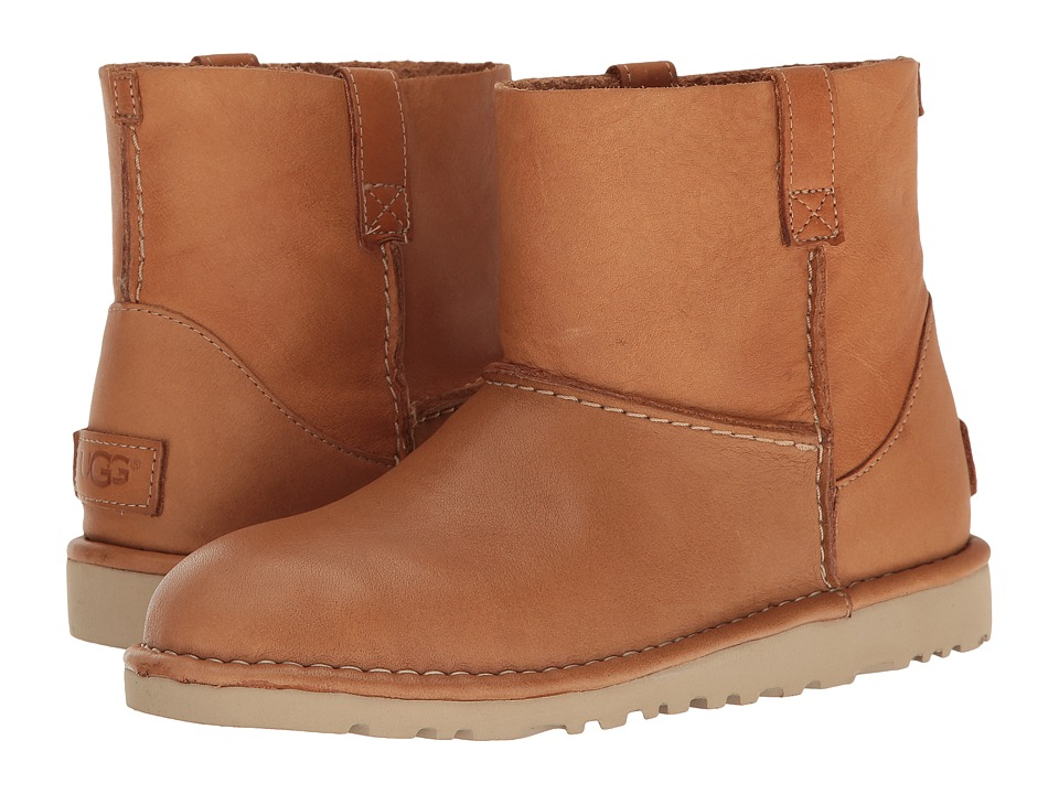 UGG Classic Unlined Mini Leather (Chestnut) Women