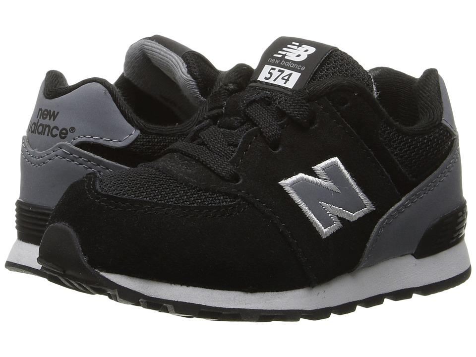 New Balance Kids KL574v1 Reflective (Little Kid) (Black/Grey) Boys Shoes