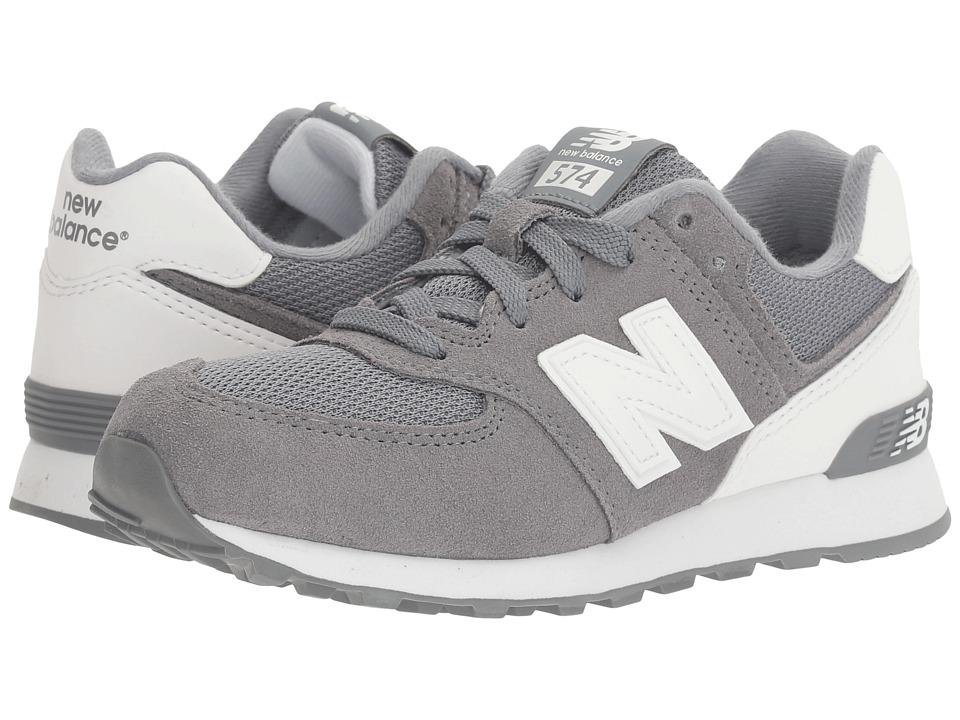 New Balance Kids KL574v1 Reflective (Little Kid) (Grey/White) Boys Shoes