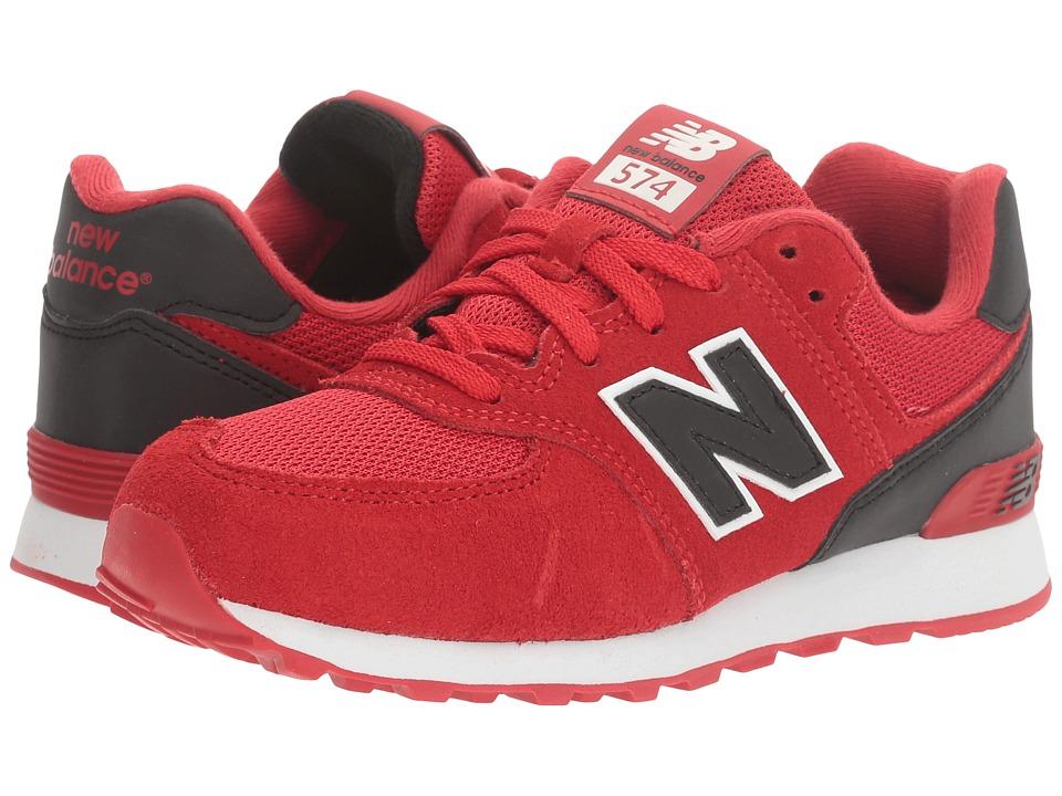 New Balance Kids KL574v1 Reflective (Little Kid) (Red/Black) Boys Shoes
