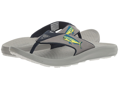 Columbia Sandals Mens Columbia Fish Flip Pfg Flat Light Grey/Cool Grey 3794578