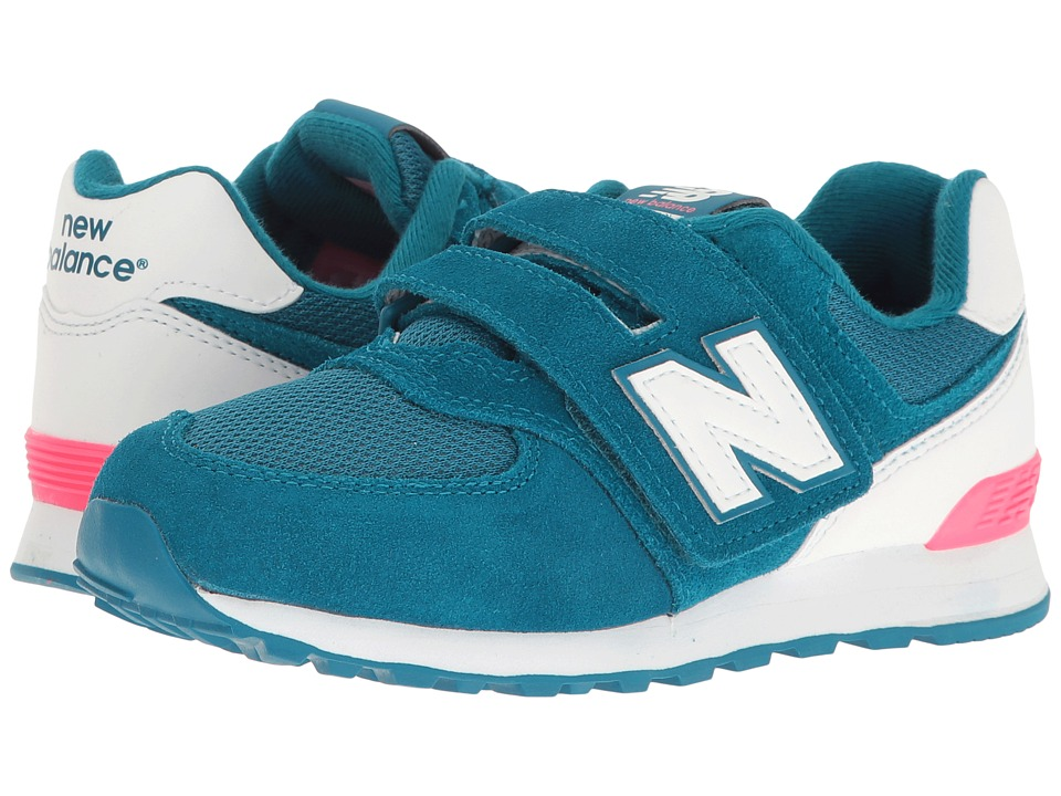 New Balance Kids - KV574v1 Reflective (Little Kid/Big Kid) (Blue/White) Girls Shoes