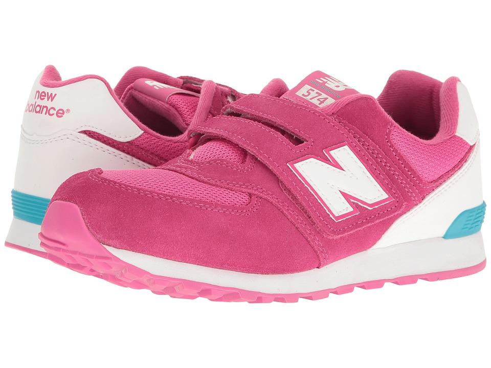 New Balance Kids KV574v1 Reflective (Infant/Toddler) (Pink/White) Girls Shoes