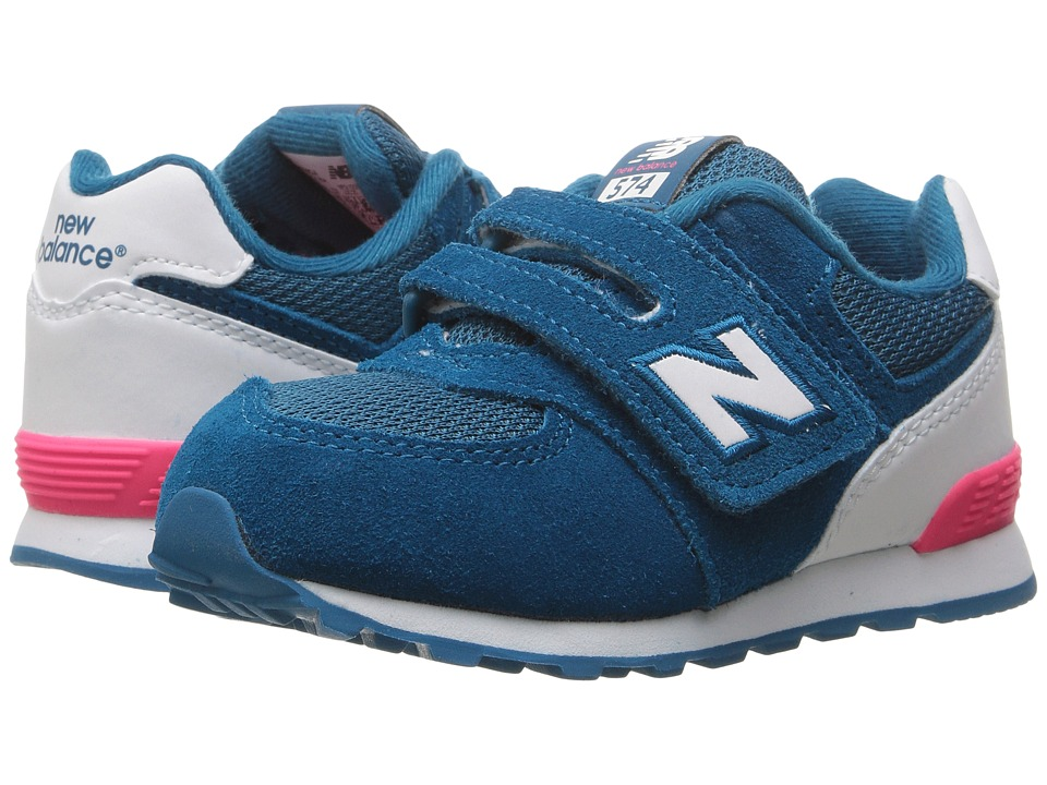 New Balance Kids KV574v1 Reflective (Infant/Toddler) (Blue/White) Girls Shoes