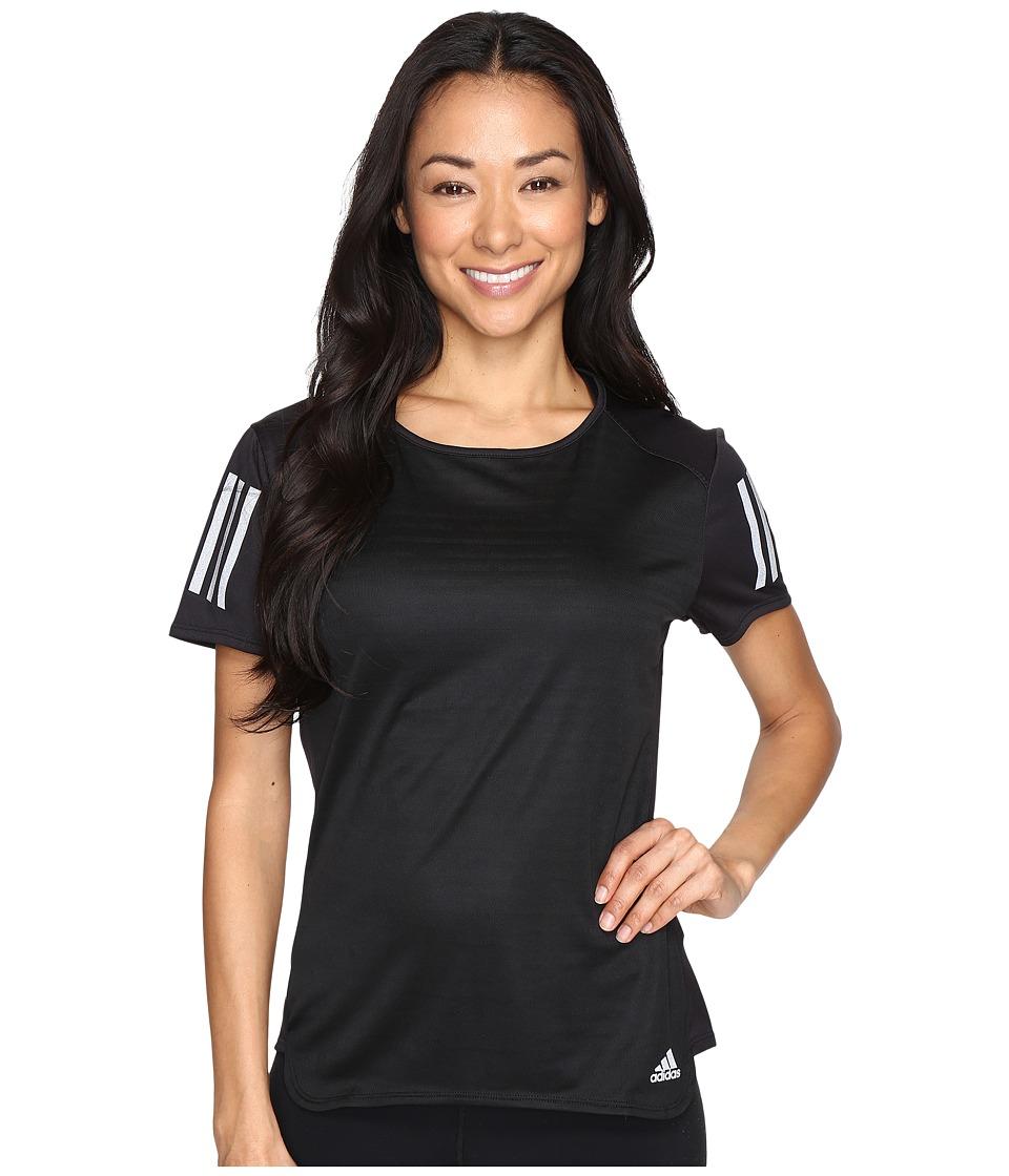 adidas - Response Short Sleeve Tee (Black) Women's Short Sleeve Pullover