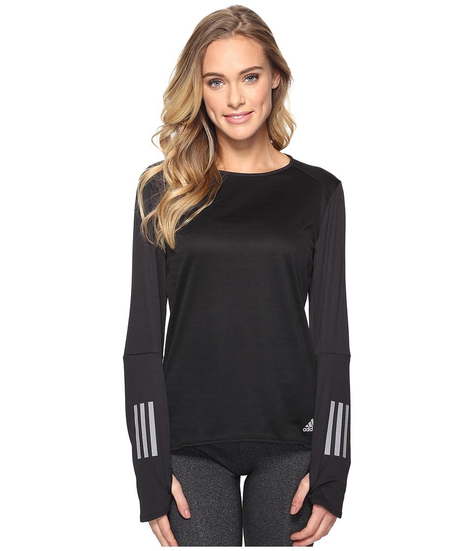 adidas - Response Long Sleeve Tee (Black) Women's Long Sleeve Pullover