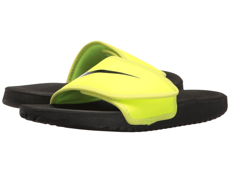 Nike Kids Kawa Adjust (Little Kid/Big Kid) (Volt/Black) Boys Shoes