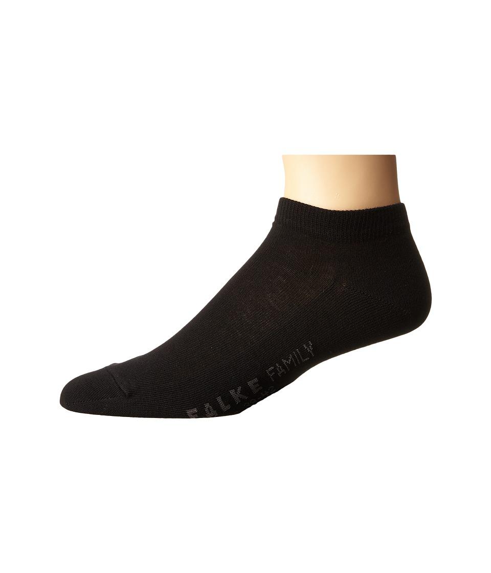 Falke - Family Sneaker (Black) Men's Crew Cut Socks Shoes