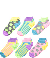Jefferies Socks - Pastel Neon Dot/Stripe Low Cut Socks 6-Pair Pack (Toddler/Little Kid/Big Kid)