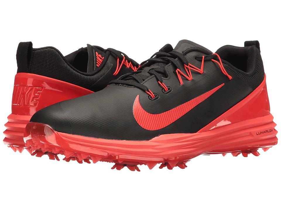 Nike Golf - Lunar Command 2 (Black/Max Orange) Men's Golf...