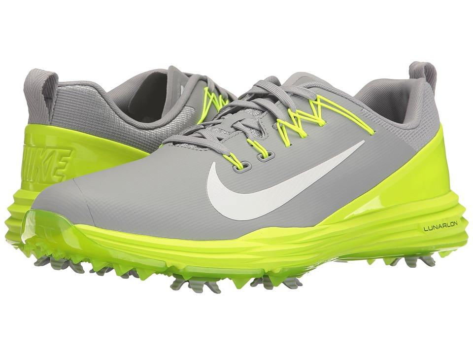 Nike Golf - Lunar Command 2 (Wolf Grey/White/Volt) Mens Golf Shoes