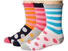 Jefferies Socks Stripes/Dots/Hearts/Stars Crew Socks 3-Pair Pack (Toddler/Little Kid/Big Kid)