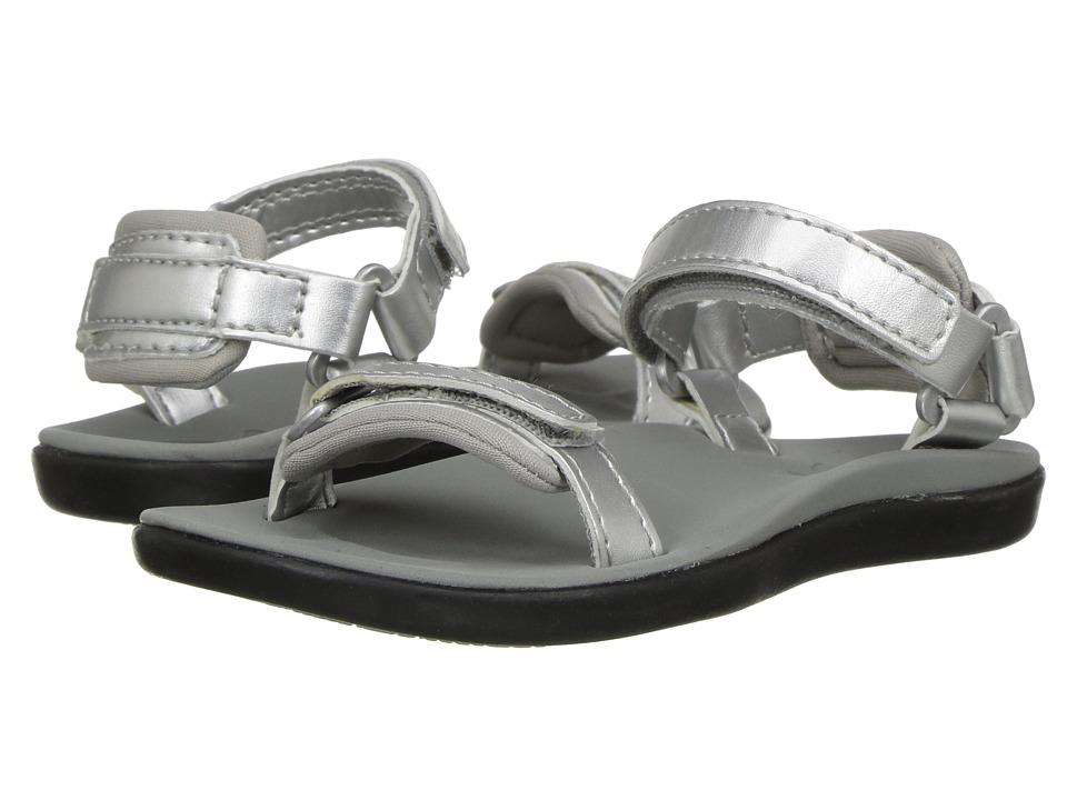 OluKai Kids Luana (Toddler/Little Kid/Big Kid) (Silver/Pale Grey) Girls Shoes