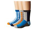 Jefferies Socks Gingham/Color Block/Argyle Crew Socks 3-Pair Pack (Toddler/Little Kid/Big Kid)