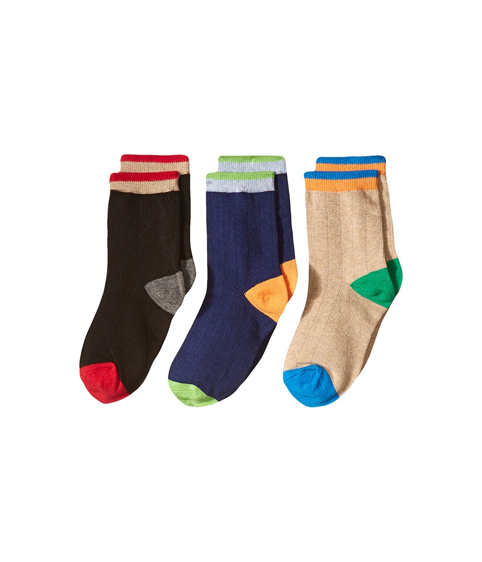 Jefferies Socks Wide Rib Crew Socks 3-Pair Pack (Toddler/Little Kid/Big Kid) (Multi) Boys Shoes