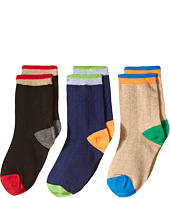 Jefferies Socks - Wide Rib Crew Socks 3-Pair Pack (Toddler/Little Kid/Big Kid)