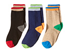 Jefferies Socks Wide Rib Crew Socks 3-Pair Pack (Toddler/Little Kid/Big Kid)