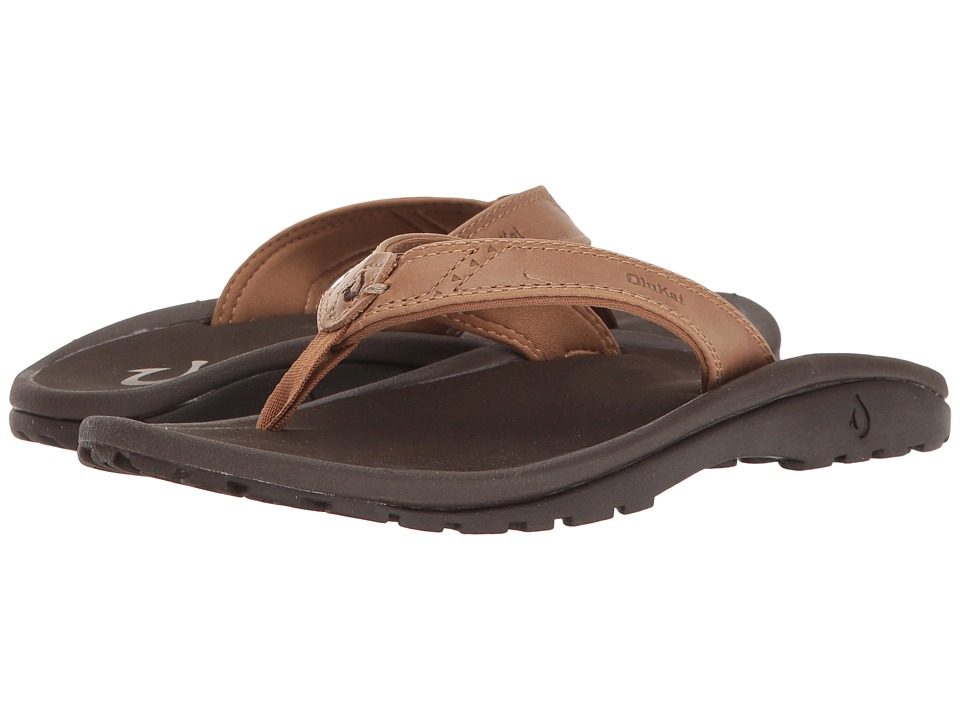 OluKai Kids Nui (Toddler/Little Kid/Big Kid) (Tan/Dark Java) Boys Shoes