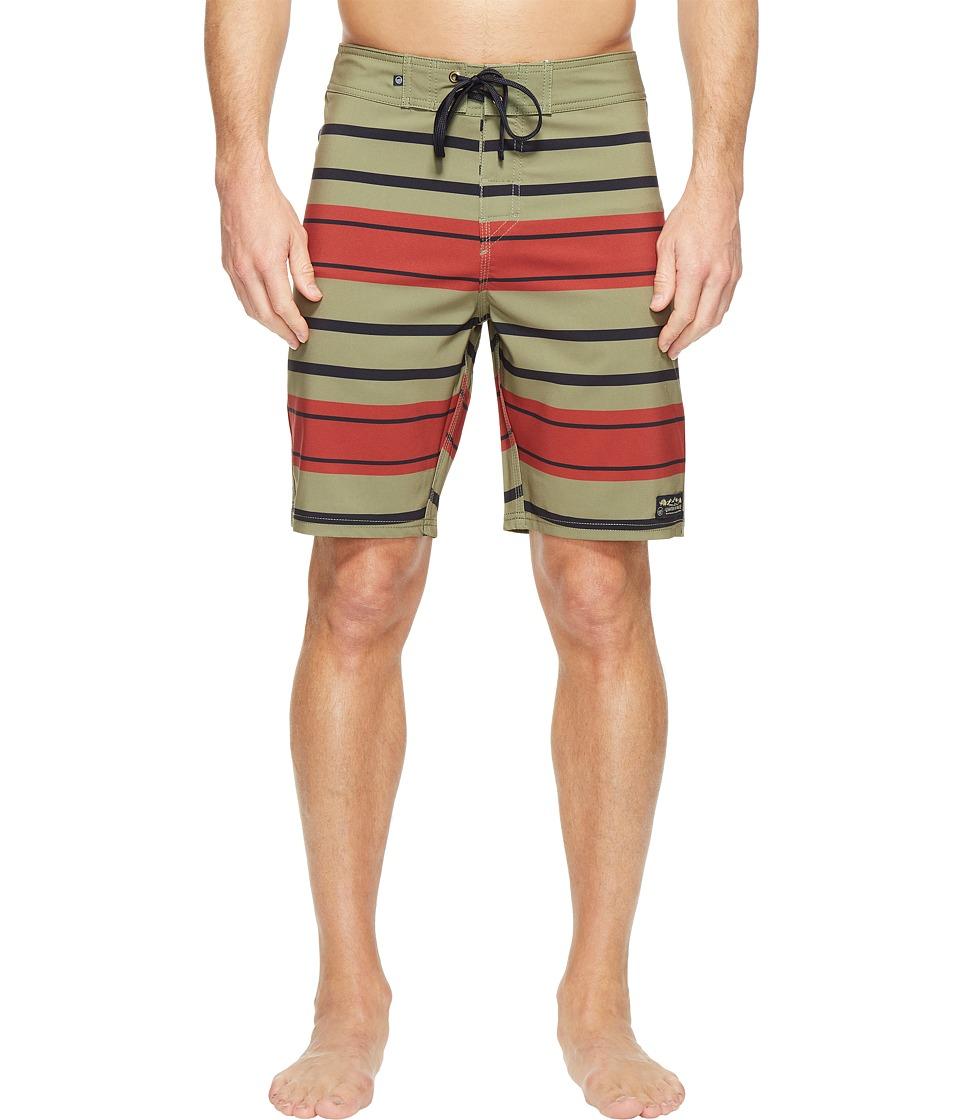 United By Blue - Streamline Boardshorts (Olive) Mens Swimwear