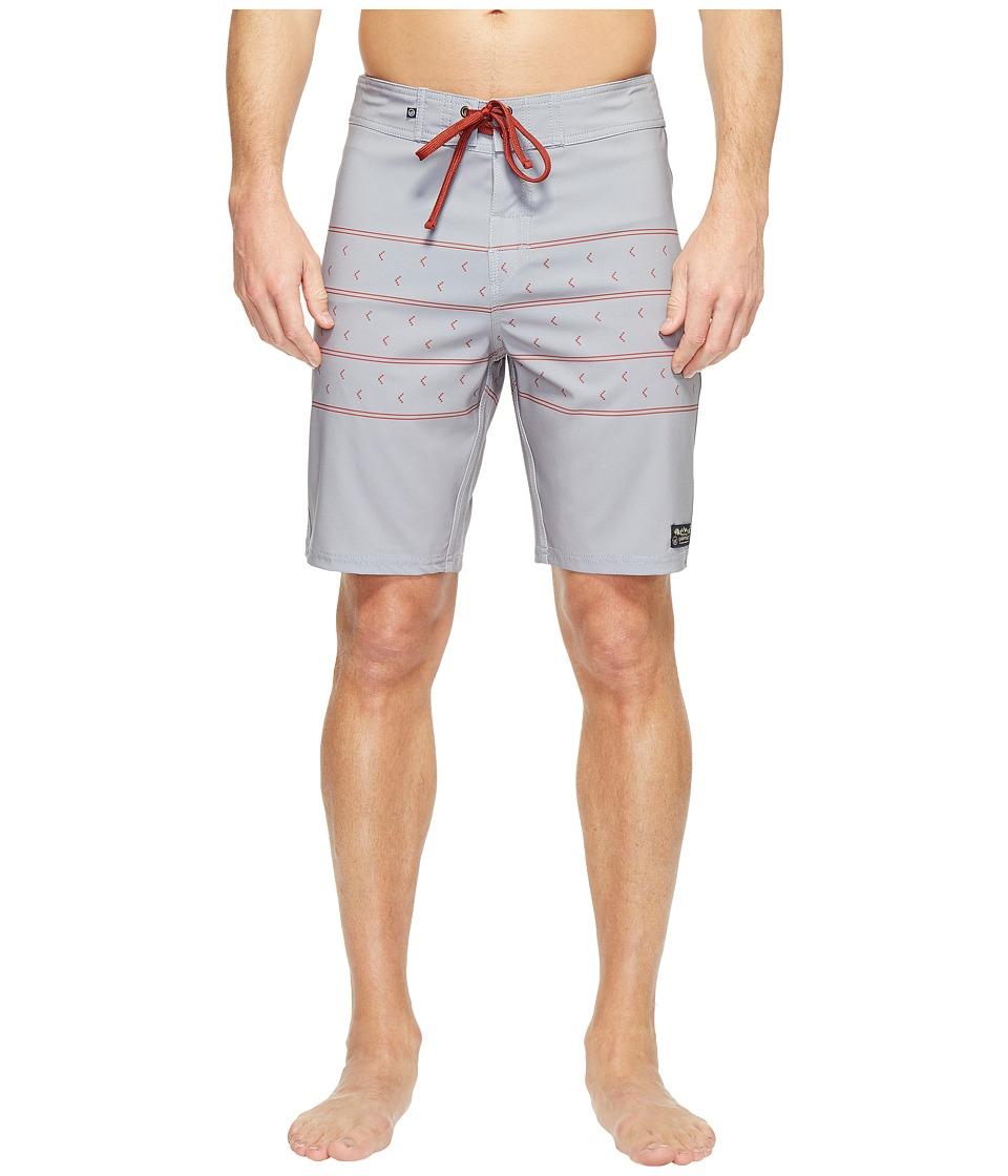 United By Blue - Northbound Boardshorts (Grey) Mens Swimwear