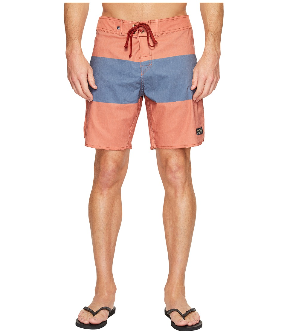 United By Blue Midstream Scallop Boardshorts (Navy) Men