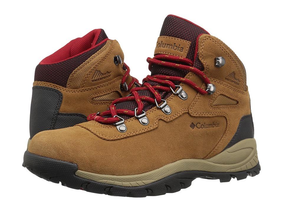 Columbia Newton Ridge Plus Waterproof Amped (Elk/Mountain Red) Women's Shoes