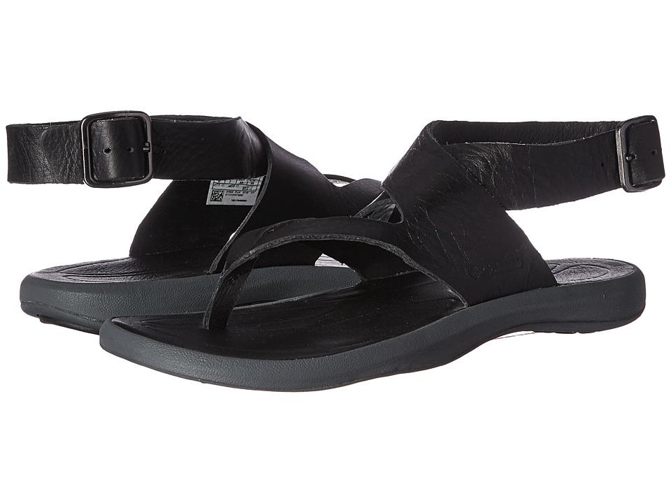 Columbia Caprizee Leather Sandal (Black/Graphite) Women