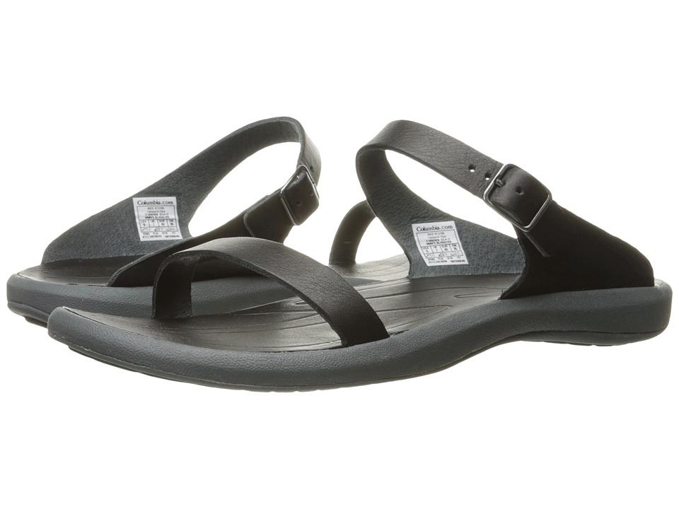 Columbia Caprizee Leather Slide (Black/Graphite) Women